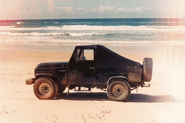Rainbow Beach and our Nissan Patrol!