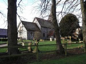 The church at Hannington Village, Hampshire.