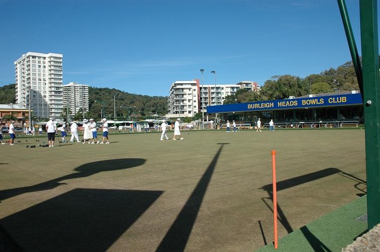 The Burleigh Heads Bowls Club, Gold Coast, Queensland Australia.
