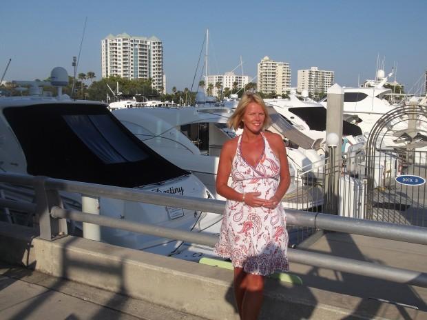 Jenny Kirwan (me!) dockside at Marina Jack, Sarasota.