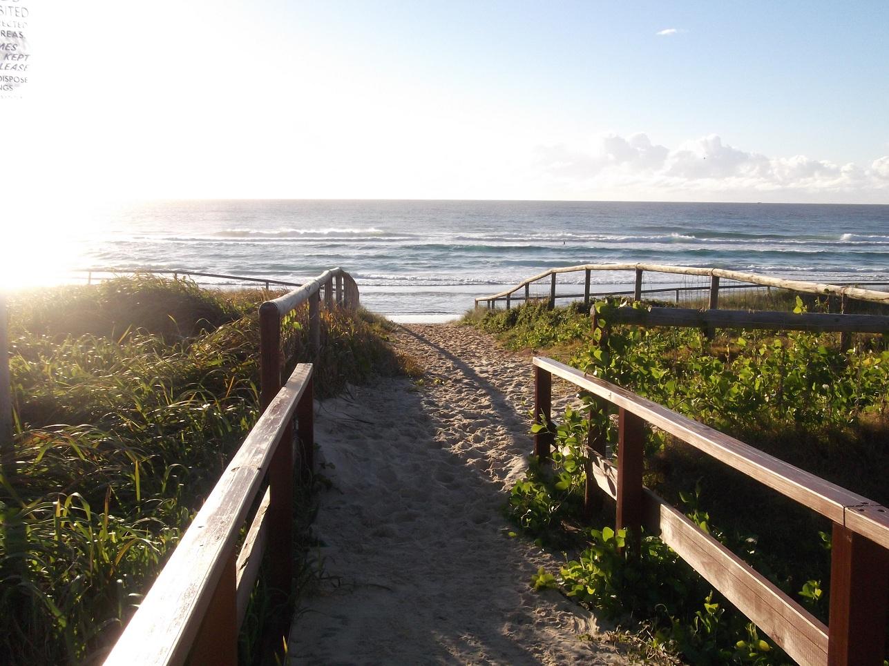 Entrance to Mermaid Beach, Queensland