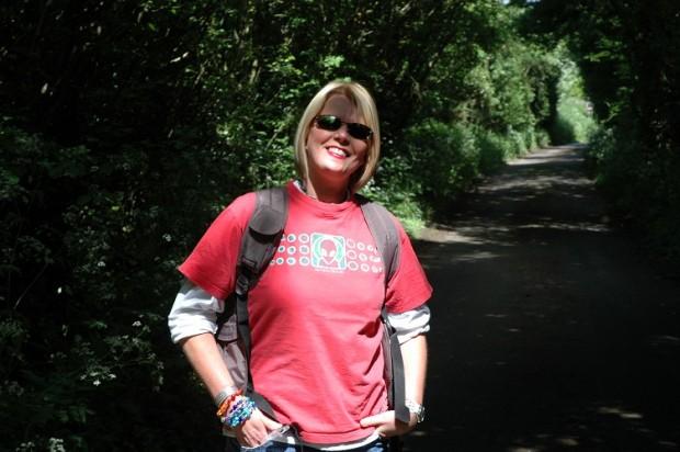 Jenny Kirwan (me) in Picket Lane in South Perrott one fine Sunday afternoon.