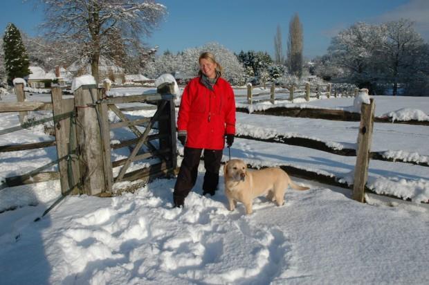 Jenny Kirwan (me) and Indi at Haughurst House, Hampshire